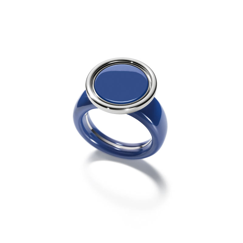 Ehinger Schwarz 1876 Color Button Ring